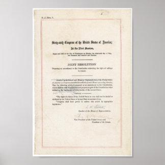 diecinueveavo Enmienda Póster