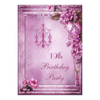 """Diecinueveavo fiesta de cumpleaños de la lámpara, invitación 5"""" x 7"""""""
