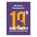 diecinueveavo Fiesta de cumpleaños resistida Comunicados Personalizados