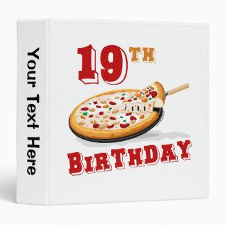 """diecinueveavo Fiesta de la pizza del cumpleaños Carpeta 1 1/2"""""""