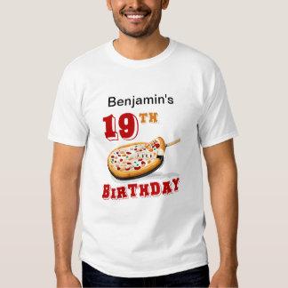 diecinueveavo Fiesta de la pizza del cumpleaños Poleras