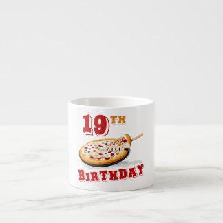 diecinueveavo Fiesta de la pizza del cumpleaños Taza Espresso