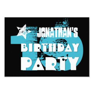 """Diecinueveavo fiesta del Grunge del cumpleaños de Invitación 3.5"""" X 5"""""""
