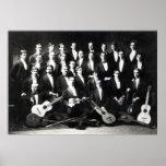 diecinueveavo Grupo musical para hombre de C Posters