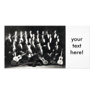 diecinueveavo ¡Grupo musical para hombre de C, su  Tarjeta Fotográfica Personalizada