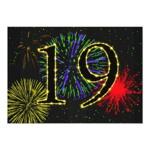 diecinueveavo invitate de la fiesta de cumpleaños invitación 12,7 x 17,8 cm