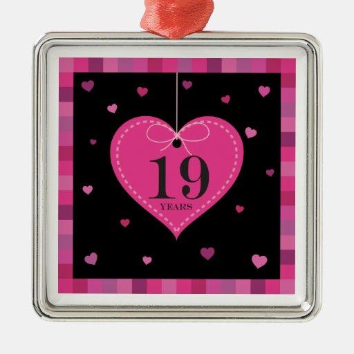 diecinueveavo Ornamento del corazón del Adornos De Navidad