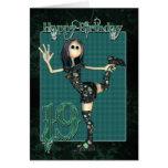 diecinueveavo Tarjeta de cumpleaños con la muñeca