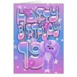 diecinueveavo Tarjeta de cumpleaños linda con la p