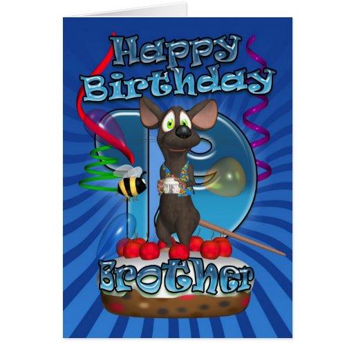 diecinueveavo Tarjeta de cumpleaños para Brother -