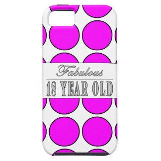 Dieciocho lunares rosados años fabulosos iPhone 5 coberturas