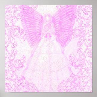 Dieciséis-Poster dulce de color de malva angelical