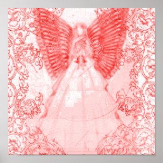 Dieciséis-Poster dulce rojo angelical sofisticado