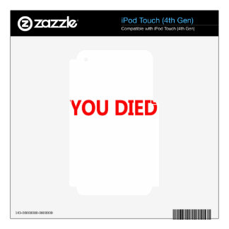 died skins for iPod touch 4G