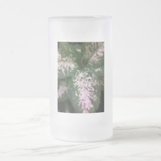 Dieffenbachia Frosted Glass Beer Mug