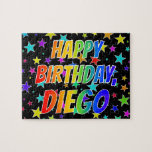 "[ Thumbnail: ""Diego"" First Name, Fun ""Happy Birthday"" Jigsaw Puzzle ]"