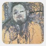 Diego Rivera 1916 Pegatina Cuadrada