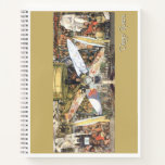 Diego Rivera - Man at the Crossroads grid paper Notebook