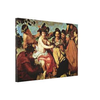 Diego Velázquez - el Drunks (Bacchus Triumph) Impresión En Lienzo