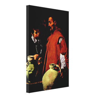 Diego Velázquez - el vendedor del agua de Sevilla Impresión En Lienzo