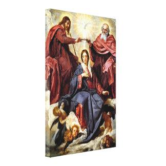 Diego Velázquez - la coronación de Maria Impresión En Lienzo