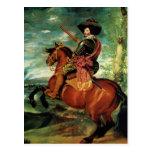 Diego Velázquez - retrato de Gaspar de Guzmán Postal