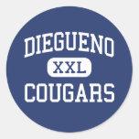 Diegueno - Cougars - Junior - Encinitas California Stickers