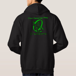 Diehards Gamer Graphic Green Your Gamertag Hoodie