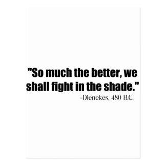 Dienekes Fight In The Shade Postcard