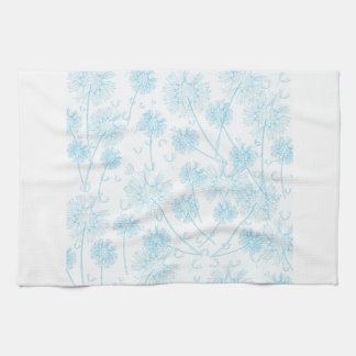 Diente de león azul suave elegante toallas de cocina