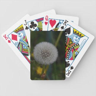 Diente de león en semilla baraja cartas de poker