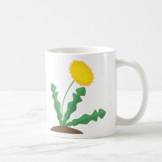 Diente de león estilizado tazas de café