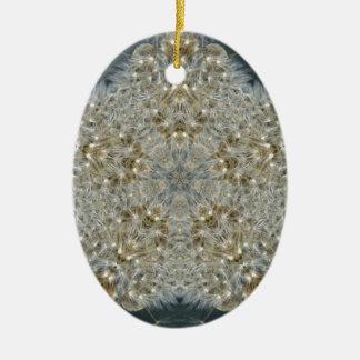 Diente de león estrella noviembre de 2012 adorno navideño ovalado de cerámica