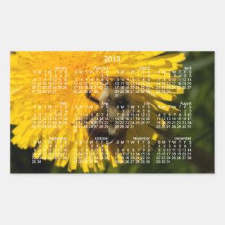 Diente de león Pollenator; Calendario 2013 Rectangular Pegatina