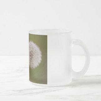 Diente de león taza de café esmerilada