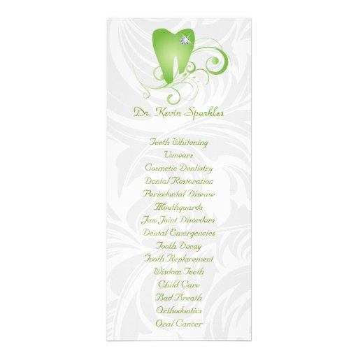 Diente del diamante de la cal del folleto del menú lonas personalizadas