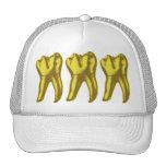 Diente del oro gorros bordados