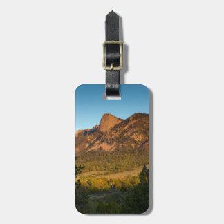 Diente del tiempo, rancho del explorador de etiquetas para maletas