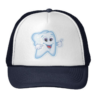 Diente feliz sano gorras