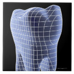 Diente, ilustraciones del ordenador de un diente azulejo cuadrado grande