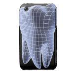 Diente, ilustraciones del ordenador de un diente funda para iPhone 3 de Case-Mate