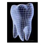 Diente, ilustraciones del ordenador de un diente tarjetas postales