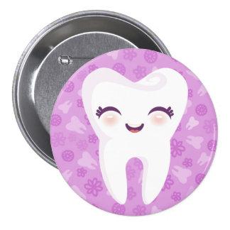 Diente lindo - botón púrpura del Pin