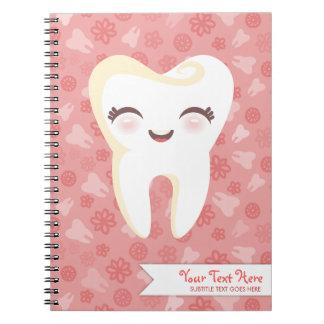 Diente lindo - cuaderno de encargo rosado