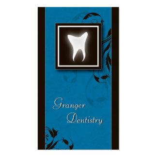 Diente molar azul elegante de la tarjeta de visita