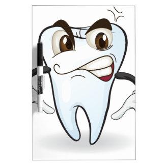 diente tablero blanco