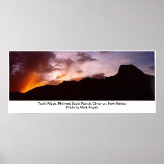 Diente Ridge, rancho del explorador de Philmont Póster