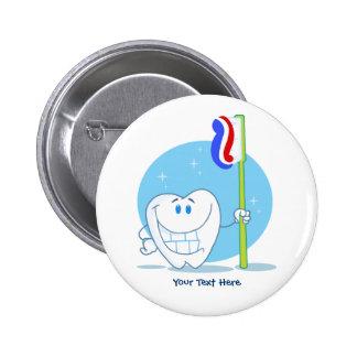 Diente sonriente (personalizable) pin redondo de 2 pulgadas