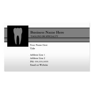 diente tarjetas de negocios