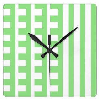 Diente verde claro de los peines reloj cuadrado